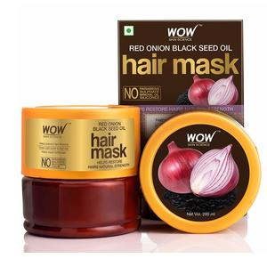 WOW Skin Science Red Onion Black Seed Oil Hair Mask with Red Onion Seed Oil Extract and Black Seed Oil, 200mL