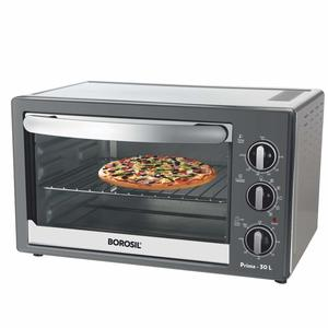 Borosil Prima 30 L OTG, With Motorised Rotisserie And Convection, 1500 W, 6 Stage Heating Function, Silver