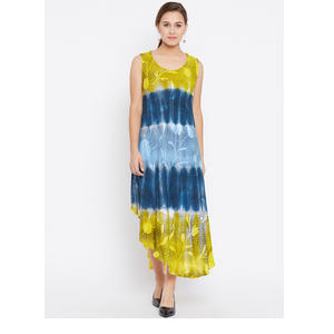 AASK Women Blue Dyed A-Line Dress