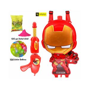 Zest 4 Toyz Holi Water Gun with High Pressure Holi Pichkari with Back Holding Tank,Holi (Ironman Tank)