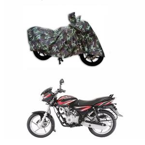 MotRoX Jungle Print Two Wheeler Cover for Bajaj Discover 125 DTS-i (Water Resistant)