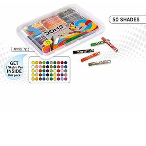 DOMS Oil Pastel 50 Shades Plastic Pack