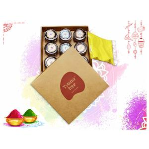 Herbs & Us Tummy Pops Mini Happiness Kit Holi Gift Hamper | Mini Jars | 9 Flavours of Colours | Holi Gift Pack | Holi Gifts | Holi Hamper | Colourful Healthy Gift | Gift for Holi Celebrations