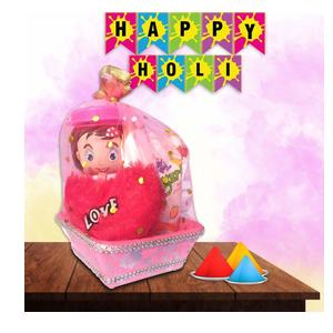 Mahak Celebration Gift Bucket Hamper / Milk-N-Nut Mini Doll / Frugurt Pouch / Candies and Jelly Combo Pack / Free Heart Gift / Valentine' / New Year / Christmas / Holi / Diwali / Festive Season