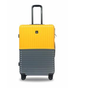 Nasher Miles Istanbul Hard-Sided Polycarbonate Check-in Luggage Yellow and Grey 28 inch |75cm Trolley Bag