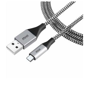 Micro USB 6 Feet Cable with Khali Tough Bullet Proof Material (Black)