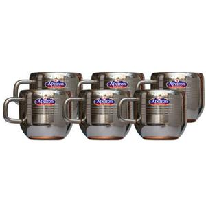 Apeiron Pack of 6 Stainless Steel Stainless Steel Double Wall Tea Cup Coffee Cup Stainless Steel  (Steel)