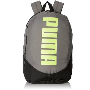 Puma 28 Ltrs Steel Grey and Fluo Lime Casual Backpack (7279003)