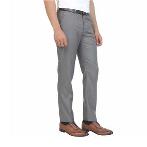 blackberrys Solid Grey Coloured Polyester Trouser