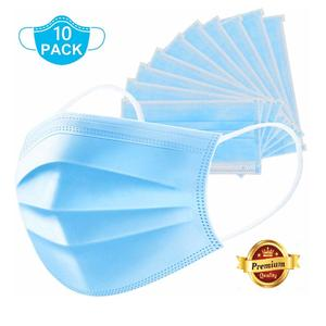 Dr Luzuliyo® 3 ply face mask Anti-t Disposable Surgical Medical Salon Earloop Face Mouth Masks (PACK OF 10)