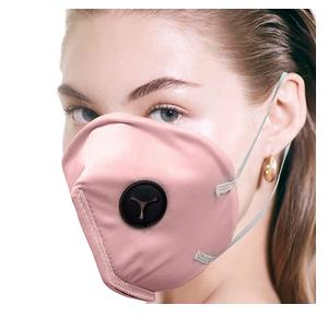 Lioncrown Skin Friendly Face Mask For Protection Against Pollution/Bacteria/Dust With Replaceable Filter (Pink)