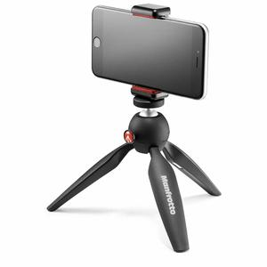 Manfrotto MKPIXICLAMP-BK Mini Tripod Black with Universal Smartphone Clamp