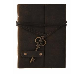 "RSN Vintage Classic Key Lock Design Leather Handmade Paper Journal Diary with Stylish Key (Brown) (7"" X 5"")"