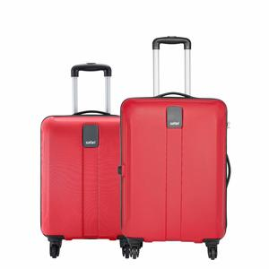 Safari Thorium Sharp Anti-Scratch Combo Set of 2 Red Small, Medium Check-in 4 Wheel Hard Suitcase
