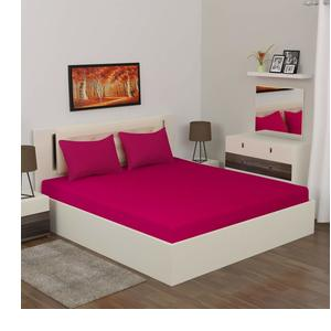 Home Centre Signature Double Bedsheet Set-3pc - Red