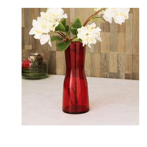 Home Centre Eadric Glass Vase - Red