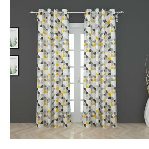 Home Centre Harold Printed Semi-Blackout Door Curtain-Set of 2 Pcs - Multicolour