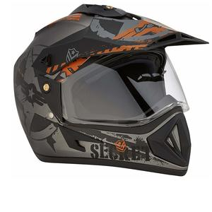 Off Road D/V Secret Dull Anthracite Black Helmet-M