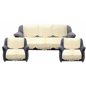 Kuber Industries™ Cream 5 Seater Net Sofa Cover Set -10 Pieces (Exclusive Design)