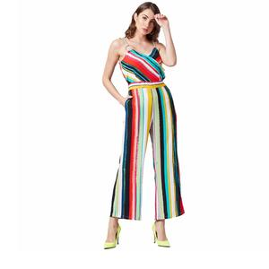PoshBery Women Multicoloured Striped Jumpsuit