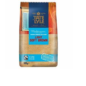 Tate And Lyle Light Soft Brown Cane Sugar, 500 Gm
