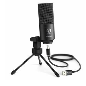FIFINE USB Microphone, Fifine K680 Metal Condenser Recording Microphone For Laptop MAC Or Windows Cardioid Studio Recording Vocals, Voice Overs,Streaming Broadcast And YouTube Videos