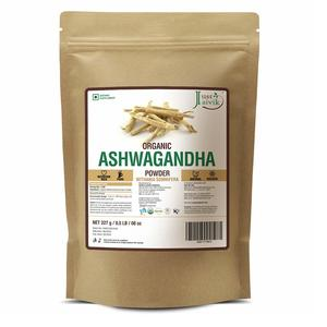 100% Organic Ashwagandha Powder- Withania Somnifera- USDA Certified Organic- 227g (0.5 LB) 8 oz - Ayurvedic Herbal Supplement That Promotes Vitality & Strength - Support for Stress-free Living