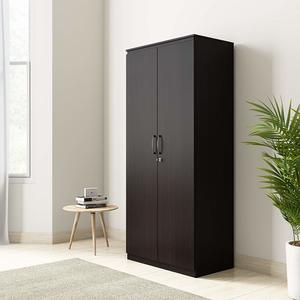 Amazon Brand - Solimo Vega Engineered Wood 2 Door Wardrobe with Drawer (Espresso Finish)