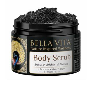 Bella Vita Organic De-Tan Removal Body Scrub For Neck, Shoulders, Elbows, Knees & Toes Deep Cleansing Skin Brightening & Hydration, 100g