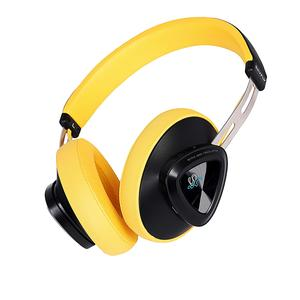 Skyfly Bliss Active Noise Cancellation (ANC) Headphones with BT v5.0 (Yellow colour) || Big 57 mm Dynamic Driver delivering HD Sound and upto 40 hours of non-stop music in single charge || Wireless Headphone with Handsfree calling || Latest Bluetooth Headphone with Deep and Extra Bass