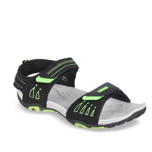 Yuuki Men Black & Grey Sports Sandals