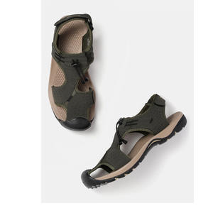 Roadster Men Olive Green Perforated Sports Sandals
