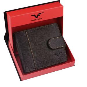 Vener fabica  Men Casual Black Genuine Leather Wallet  (5 Card Slots)