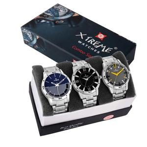 Xtreme  XM-CMB-02 Awesome Multi Color Dial 3 Combo Analog Watch - For Men