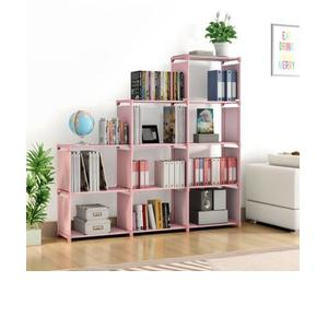 Flipkart Perfect Homes Studio Metal Open Book Shelf  (Finish Color - Printed Pink)