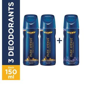 Park Avenue Body Good Morning, Storm Deodorant Spray For Men (450 ml, Pack of 3)