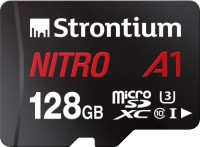 Strontium Nitro A1 128 GB SDXC UHS Class 1 100 Mbps  Memory Card(With Adapter)