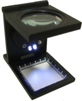 Star Magic Fold With Scale & Led Loupe 8X Magnifying Glass(Black)