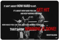Posterhouzz- Rocky Balboa Quotes Fp00004633 Framed Fine Art Print(12 inch X 18 inch, Rolled)