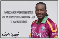 Posterhouzz Chris Gayle Poster Fine Art Print(12 inch X 18 inch, Rolled)