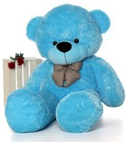 stuffed toy 4 Feet Cute blue Fur & Heart Teddy Bear  - 120 cm(Blue)