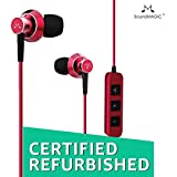 (Renewed) SoundMagic ES20BT Bluetooth Stereo Earphones with Mic (Red)
