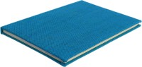 eShilp Handmade Diary-Jute Fabric Cover-Pasted Binding Size 25x18x1.3 Cm Regular Journal Unruled 85 Pages(Blue)