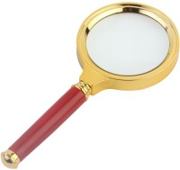 7Trees Retro Look 3X Magnifier Magnifying Glass, 3X / 70mm(Gold, Maroon)