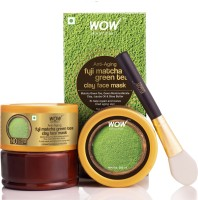 WOW Skin Science Anti-Aging Fuji Matcha Green Tea Clay Face Mask for Repairing & Reviving Tired Aging Skin- No Parabens, Sulphate, Mineral Oil & Color - 200mL(200 ml)
