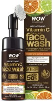 WOW Skin Science Brightening Vitamin C Foaming  with Built-In Face Brush for deep cleansing - No Parabens, Sulphate, Silicones & Color - 150 ml Face Wash(150 ml)