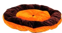 R.K Products 13 orange with brown patti S Pet Bed(Orange)
