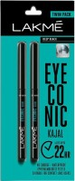 Lakme Eyeconic Kajal Twin Pack(Deep Black, 0.7 g)