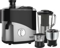 Maharaja Whiteline Odacio Plus JX1-157 550 W Juicer Mixer Grinder(Black, Grey, 3 Jars)