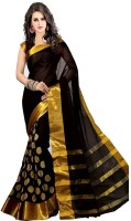 Stylezone Self Design, Striped Fashion Polycotton Saree(Black)